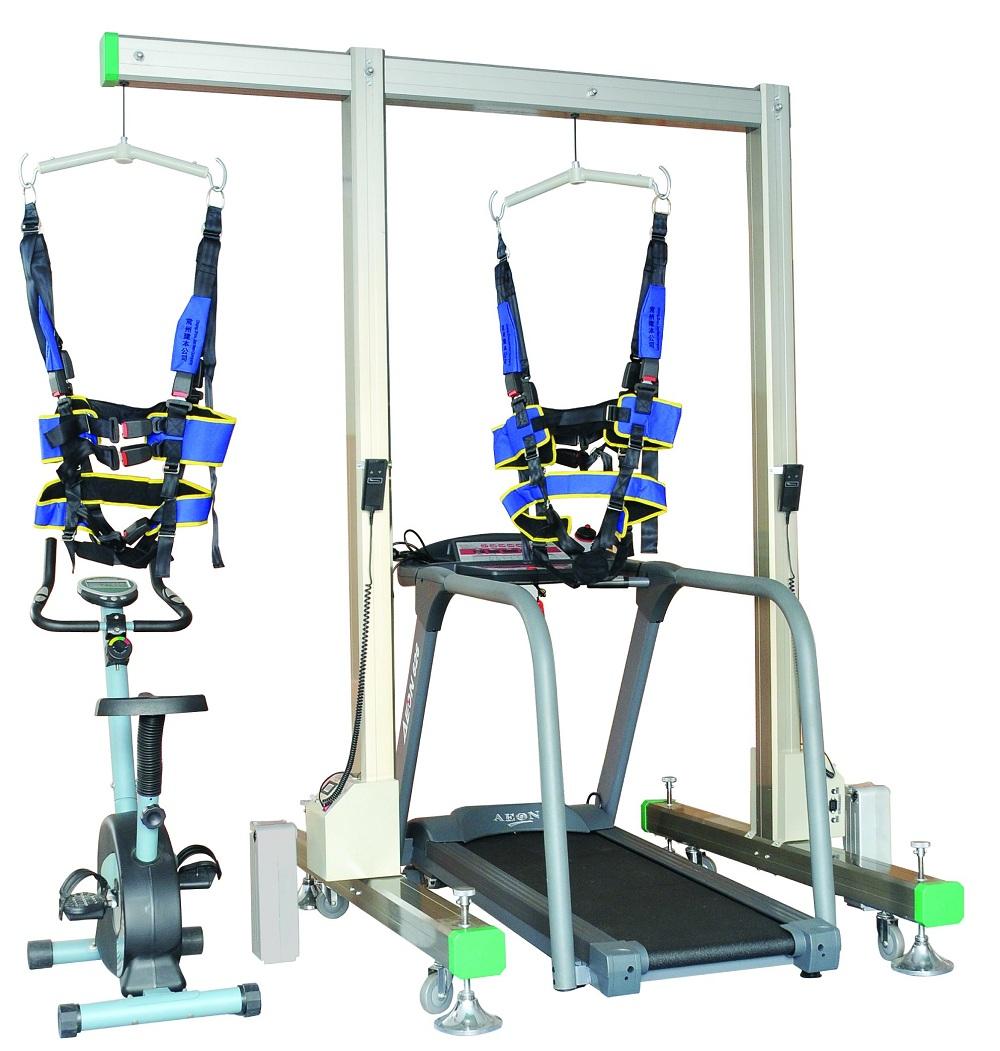 门架式电动减重步态训练器(配进口电动跑