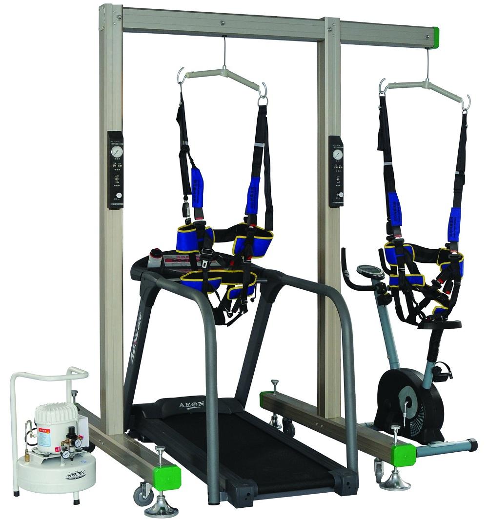 门架式气动减重步态训练器(配进口电动跑