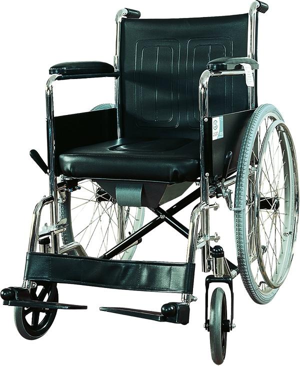 B-LYI-B  轮椅(带坐便)