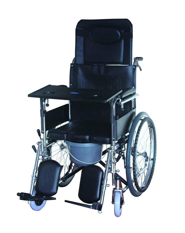 B-LYI-C 高靠背轮椅(带坐便、可折叠)